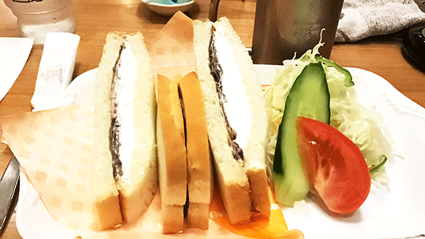 小倉ホイップサンド【昼コメプレート】